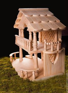 Instant Access To Woodworking Designs, DIY Patterns & Crafts Popsicle Stick Houses, Popsicle Stick Crafts, Craft Stick Crafts, Wood Crafts, Diy And Crafts, Kids Doll House, Doll House Plans, Wooden Dollhouse, Diy Dollhouse