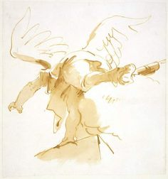 Study of an angel in arabesque, seen from behind Tiepolo, Giovanni Battista