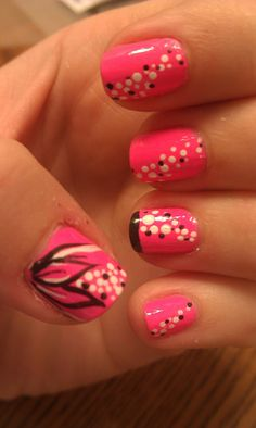 Simple black and pink!