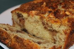 A quintessential fall recipe: Apple Cinnamon Bread. Great for breakfast or dessert!