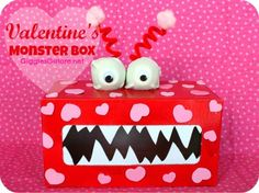 DIY Valentine's Monster Box from MichaelsMakers  Giggles Galore