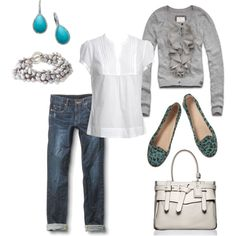 I love this outfit!  I wish I could afford it...but it inspires me to find a cheaper version!