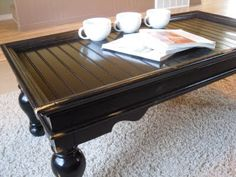 Poppies at Play - redo of coffee table, bead board on top to cover old surface and great ideas on this blog