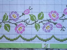 This Pin was discovered by Zey Beaded Cross Stitch, Cross Stitch Rose, Cross Stitch Borders, Cross Stitch Flowers, Cross Stitch Charts, Cross Stitch Designs, Cross Stitch Embroidery, Cross Stitch Patterns, Palestinian Embroidery