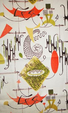 Historically Modern: Quilts, Textiles & Design: Principles of Modernism: Surrealism. Barkcloth