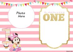 Our Mickey Mouse Invitation is being a hit! Almost thousands of reader loves it! Of course we love it too! But they said, Mickey Mouse was for a boy! We need Minnie Mouse invitation! Well, today I will share FREE Printable Minnie Mouse birthd Free Invitation Templates, Birthday Invitation Card Template, Minnie Mouse Birthday Invitations, Free Printable Birthday Invitations, Templates Free, Card Templates, Invitations Online, Printing, Princess Party