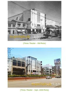 The Times Theatre along Quezon Boulevard in Quiapo, in the and in It is still operational Philippine Architecture, Philippine Art, Manila Philippines, She Was Beautiful, Historical Pictures, Monuments, Old Photos, 1940s, Theatre