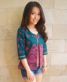 Tenun Classic Blazer Tosca Pink | batik kultur