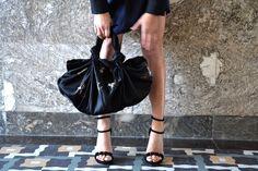silk bag hand-painted, furoshiki by woynowska