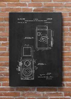 Vintage Camera Patent Print Vintage Camera Poster Home by dalumna
