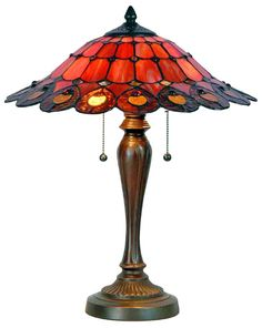 This Fiery red #tiffany #lamp we just added is the perfect piece to spice up any room.  Bring emotion into your design pallet with bright bold red accents.