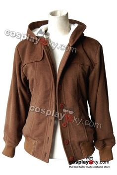 Twilight Bella Swan Brown Wool Coat Jacket Costume Tailor Made