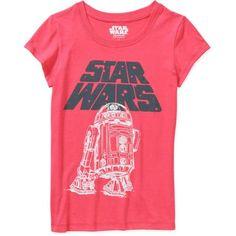 Star Wars Girls' Logo with R2D2 Cap Sleeve Graphic Tee - Walmart.com