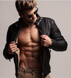 A hot guy in leather