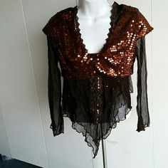 Jr's  jackets with sequins bulero S M L Jr's Brown with copper sequins all over  in S M  and L sizes Jackets & Coats
