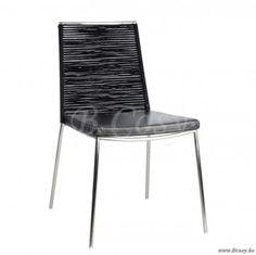 J-Line Moderne stoel lima in inox en leder 60