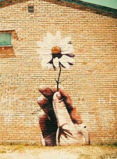 Ace street art graffiti floral Beyond Banksy Project / Alice Pasquini London graffiti. Murals Street Art, 3d Street Art, Amazing Street Art, Street Art Graffiti, Amazing Art, Awesome, Epic Art, Banksy, Art Public