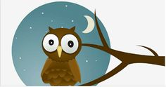 Owl Under the Moon Owl Vector, Vector Art, Vector Graphics, Cute Owl Cartoon, Owl Graphic, Owl Wallpaper, Owl Clip Art, Sitting In A Tree, Peek A Boo