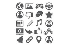 Social network icons @creativework247