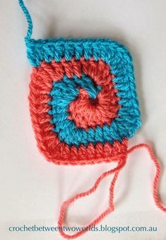 Spiral Crochet Pattern, Crochet Square Patterns, Freeform Crochet, Crochet Squares, Crochet Motif, Crochet Designs, Crochet Flowers, Crochet Stitches, Crochet Hats