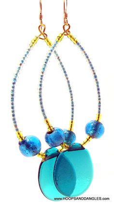 Handcrafted Costume Jewelry Vintage Blue and by hoopsanddangles, $9.99