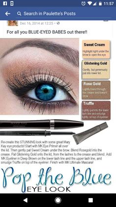 Mary Kay colors for blue eyes