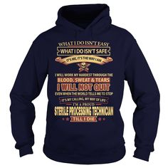 STERILE PROCESSING TECHNICIAN T-Shirts, Hoodies. SHOPPING NOW ==► https://www.sunfrog.com/LifeStyle/STERILE-PROCESSING-TECHNICIAN-Navy-Blue-Hoodie.html?id=41382