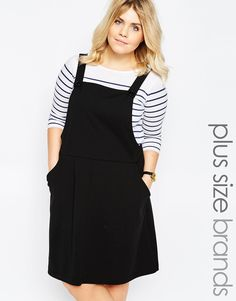 Image 1 ofNew Look Inspire Pinny Dress