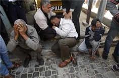 Airstrikes continue to rock the Gaza Strip, killing three men on Saturday, raising to 15 the number of Palestinians killed since Israel assassinated a military leader 24 hours earlier.     A further 26 Palestinians have been injured in the strikes, five of whom are in a serious condition, Gaza medical services spokesman Adham Abu Salmiya said.