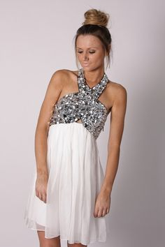 if i could afford a $350 rehearsal dinner dress. this would probably be it! embellished halter cocktail