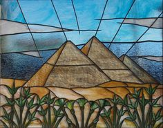 Stained glass completion of the pyramid