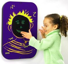 Kids will love creating finger and hand prints with the mess-free wall mounted Playsa Face Boy Wall Activity Toy. No paint, crayons, markers or mess are needed to create works of art! This unique acti