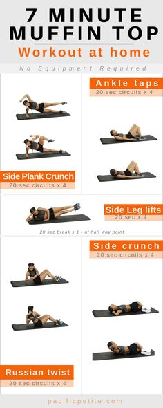 Get ride of muffin top workouts at home. Best for women who want to get ride of love handles and lower belly fat. Also best for women who want to a fast fat burning, quick workout at home. This muffin top workout is not too intense, for beginners Muffin Top Workouts, Top Ab Workouts, Quick Workouts, Workout Exercises, Fitness Workouts, Workout Gear, Lower Belly Workout, Lower Belly Fat, Lose Belly
