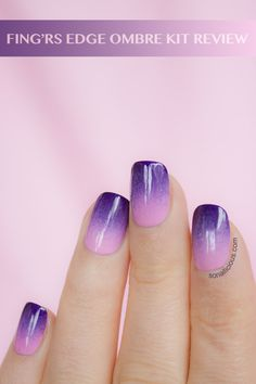Fingrs ombre nails kit - review.