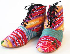 Sustainable artisan craft shoes made near Guatemala City