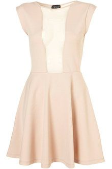 classic nude colour dress from Topshop <3