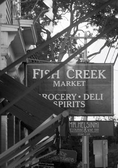 Fish Creek Market by Kate Wood on Capture Door County // A view several Fish Creek establishments