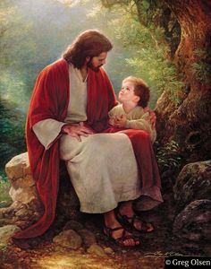 """In His Light"" by Greg Olsen.  This reminds me of a photo of my oldest brother and me when I was a toddler."
