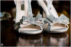 Wedding shoes, bling, Hilton Garden Inn bridal suite, Staten Island Wedding Photographer