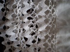 """Crochet & Rick-rack edging from 19th century doll clothes.  """"Waved Braid or The Amazing Things You Can Do With Rick Rack""""    Izannah Walker Journal"""