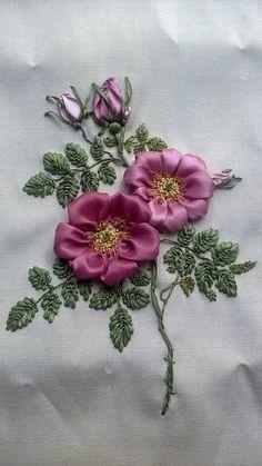 Wonderful Ribbon Embroidery Flowers by Hand Ideas. Enchanting Ribbon Embroidery Flowers by Hand Ideas. Ribbon Embroidery Tutorial, Hand Embroidery Stitches, Silk Ribbon Embroidery, Hand Embroidery Designs, Embroidery Patterns, Embroidery Supplies, Embroidery Techniques, Advanced Embroidery, Embroidery Bracelets