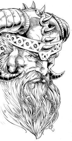 Viking Tattoo Meaning: Discover the secrets of Norse Mythology - House Decoration More Wikinger Tattoo Bedeutng: Entdecken Sie die Geheimnisse der Nordische Mythologie – Haus Dekoration Mehr The most popular Viking Tattoo: Odin Tattoo Art Viking, Viking Symbols, Viking Warrior, Viking Runes, Warrior King, Tattoo Odin, Tattoo Signification, Buddha Tattoos, Viking Drawings