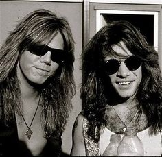 Jon Bon Jovi with Joey Tempest. I can die....xxx