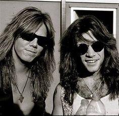 Jon Bon Jovi with Joey Tempest. I can die....xxx