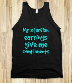 Aquamarine: Starfish Earrings - Mermaid in Disguise - Skreened T-shirts, Organic Shirts, Hoodies, Kids Tees, Baby One-Pieces and Tote Bags