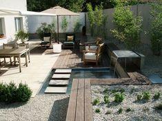 moderne terrassengestaltung mit wasser - Google-Suche