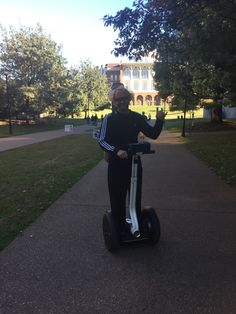"""Is this man a student, professor, or TA? He was playing """"Eye of the Tiger."""" Yesterday when I saw him, he was playing """"Ridin Dirty"""""""