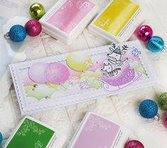 Have a Holly Jolly Christmas! – Pinkfresh Studio – rainbow in november Air Balloon, Balloons, Studio Cards, Relationship Gifts, Hello Everyone, I Card, Happy Holidays, Holiday Cards, November
