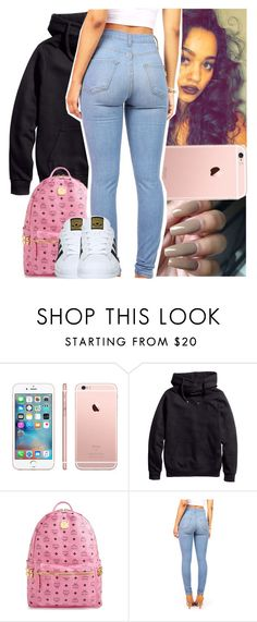 """""""Everytime that she txt me"""" by naebreezy ❤ liked on Polyvore featuring H&M, MCM and adidas"""
