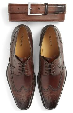Magnanni Belt & Wingtip Oxford (Men) available at #Nordstrom
